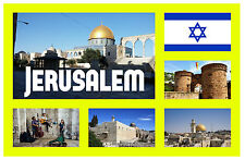 jerusalam, ISRAEL - RECUERDO ORIGINAL Imán de NEVERA-MONUMENTOS/Ciudades-