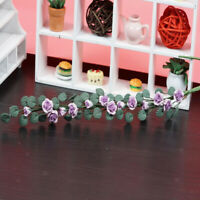 MagiDeal 1/12 Miniature Clay Rose Flower String Bunch Dolls House Accessory