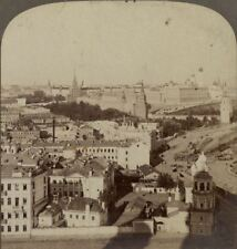 "Russia ""T'is the Kremlin Wall ""Tis Moscow the Jewel of the Czars ! - Stereoview"