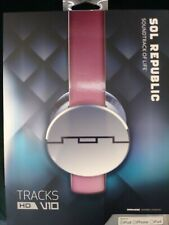 SOL Republic 1241-03 Tracks HD Headphones, Red w/2 Extra Headbands, Red and Pink