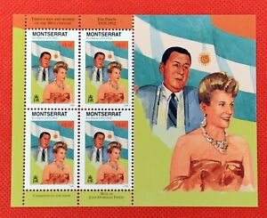 ZAYIX - 1998 Montserrat 939 MNH SS - Eva Peron of Argentina