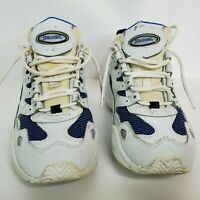 Spalding Womens Denise Austin Sneakers Blue White Low Top Lace Up Leather 7.5