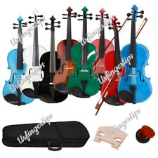 More details for new 4/4 size acoustic violin full set with case + bow + rosin + bridge uk ship