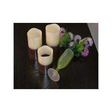"""Candles Flameless Real Wax LED Flickering  Ivory Color  Set of 3pcs  (4"""" 5'' 6"""")"""