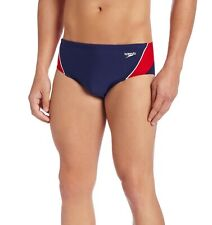 Speedo Men Swimwear Red Blue Size 30 Endurance+ Launch Splice Swim Brief $44 339