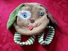 BLABLA Dog Face Round Knitted Handbag Backpack