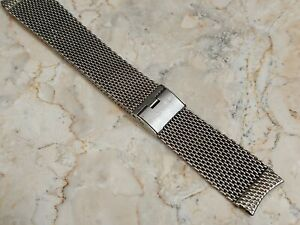JB Champion Stainless Steel Mesh 16mm Watch Band USA Curved Ends Vintage