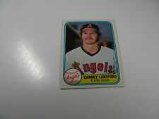 Carney Lansford 1981 Fleer card #270
