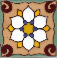 Tile Decorative Ceramic Art ~ Dragon Flower C  6x6
