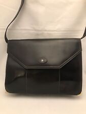 329a2c38ba83 BALLY Rare Vintage Dark Brown Leather Messenger Crossbody Shoulder Bag Italy