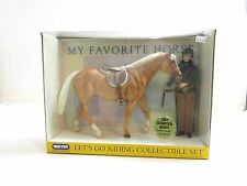 NEW / NIB BREYER HORSE LET'S GO RIDING COLLECTIBLE SET NO 1265 / 1:9 SCALE