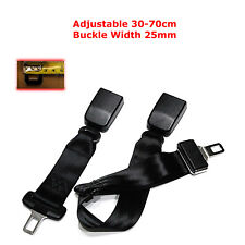 30-70CM ADJUSTABLE CAR SAFETY SEAT BELT EXTENSION EXTENDER SUPPORT BUCKLE 25MM