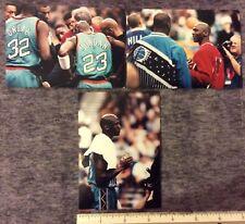 3 GAME TAKEN ORIGINAL VINTAGE SNAP SHOTS of  MICHEAL JORDAN SHAQ 1990s   #116c