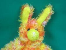 YELLOW ORANGE TIE DYE HALLOWEEN FULLY JOINTED BUNNY RABBIT PLUSH AWESOME STYLE