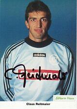 Autogramm AK KSC Claus Reitmaier Fußball Torwart Borussia Möchengladbach 1.FCK