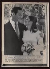 Original 1969 Sandy Koufax & Bride Wire Photo
