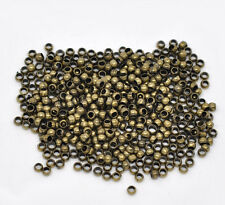 500 ANTIQUE BRONZE CRIMP BEADS ~2.5mm~JEWELLERY MAKING~ BEADING~ FINDINGS  (52A)