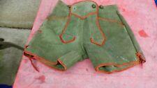 culotte bavaroise vintage en daim vert 35cm