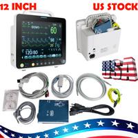 Portable ICU vital Signs Patient monitor 6Parameters SpO2,PR,NIBP, ECG,RESP,TEMP