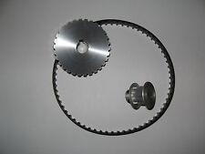 "Mini Metal Lathe 7 x 10, 12, & 14"" Pulley / Belt Power Upgrade Kit 3:1 Reduction"