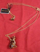 JUICY COUTURE WWF CRITTER TIGER CHARM NECKLACE YJRU6248 RHINESTONE GREEN EYES