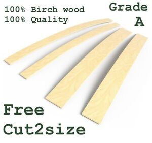 Pack of 3pcs Bed Slats 5 cm wide Birch Wood Sprung Replacement Slats Double King