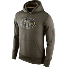 San Francisco 49ers Football Hoodie 2019 Salute to Service Sideline Pullover
