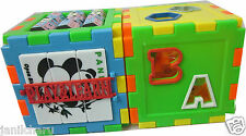 Alphabets Numbers Colors Shapes Clock Maths Blocks PlayGroup Educational Toy