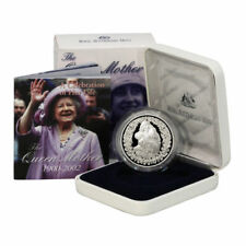 2002 AUSTRALIA The Queen Mother 1 oz Silver Proof Coin WITH BOX & COA