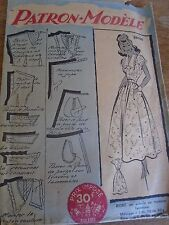 (005) ANCIEN PATRON ECHO DE LA MODE French Pattern  ROBE CHIC ET ELEGANTE  44