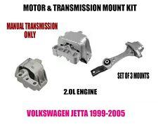 Fits:VW Jetta 99 00 01 02 03 04 05 Engine Motor Mount Set  MANUAL TRANS