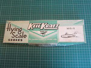 VINTAGE KEIL KRAFT FLYING SCALE MIG-15 BALSA WOOD MODEL AIRCRAFT KIT