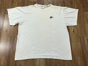 LARGE Vtg 90s Nike Embroidered Mini Futura Logo Distressed Vagabond T-Shirt USA