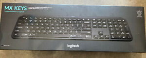 Logitech - MX Keys Advanced Wireless Illuminated Keyboard - Black