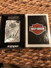 HARLEY DAVIDSON ZIPPO--LARGE EAGLE On Top Of Globe And USA