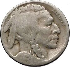 1925 BUFFALO NICKEL 5 Cents of United States of America USA Antique Coin i43670