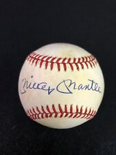 Mickey Mantle Signed Autographed Official American League Baseball Beckett LOA