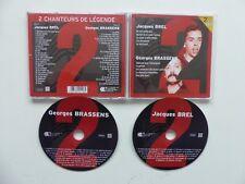 CD 2 chanteurs de légende GEORGES BRASSENS  JACQUES BREL 2XCD