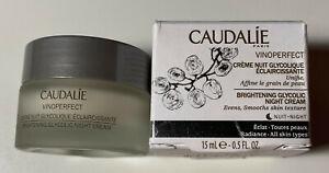 Caudalie VinoPerfect Brightening Glycolic Night Cream 0.5 fl.oz./15ml New in Box