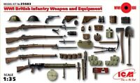 ICM 35683 WWI British Infantry Weapon and Equipment 1/35 scale model kit