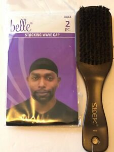 brand new 2pack men wave cap with the brush