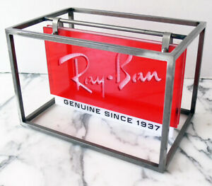 RAY-BAN Sunglasses P.O.P. store SIGN DISPLAY 2-sided KINETIC made in Italy XLNT!