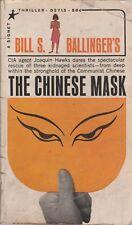 The Chinese Mask Bill Ballinger Signet Thriller 1965 paperback Joaquin Hawks