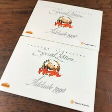 2x MINT 1990 ADELAIDE GRAND PRIX PHONECARDS IN FOLDER CONSECUTIVE NUMBERS