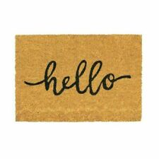 Nicola Spring Hello Coir Welcome Door Mat