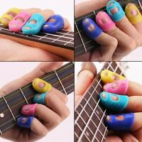 4PCS Guitar Fingertip Protectors Finger Guard Fingerstall For Guitar Accessories