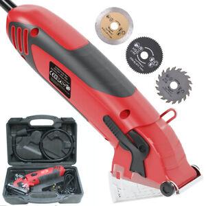 RUYIKA 400W Multi Mini Circular Saw Tool 54.8mm Wood Tile Metal Blades w/ Guide