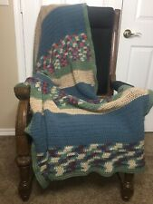 """End Of Bed Cozy Afghan Throw / Blanket Hand-Made 72"""" X 36"""""""