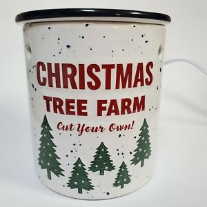 Wax Warmer Christmas Vintage Tree Farm Cut Your Own Gift White Red Green Tree