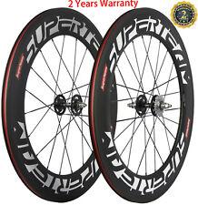 88mm Carbon Fiber Bike Track Wheels Single Speed 23mm Width Fixed Gear Wheelset